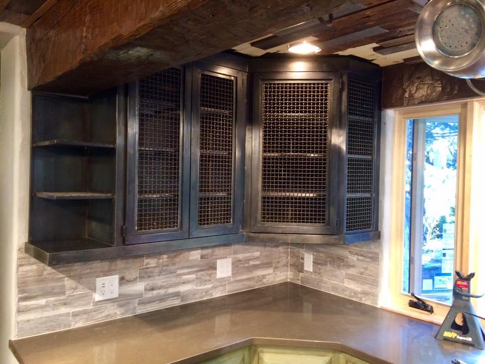 vintage industrial metal cabinets